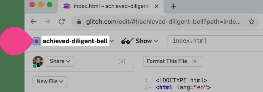 glitch project name