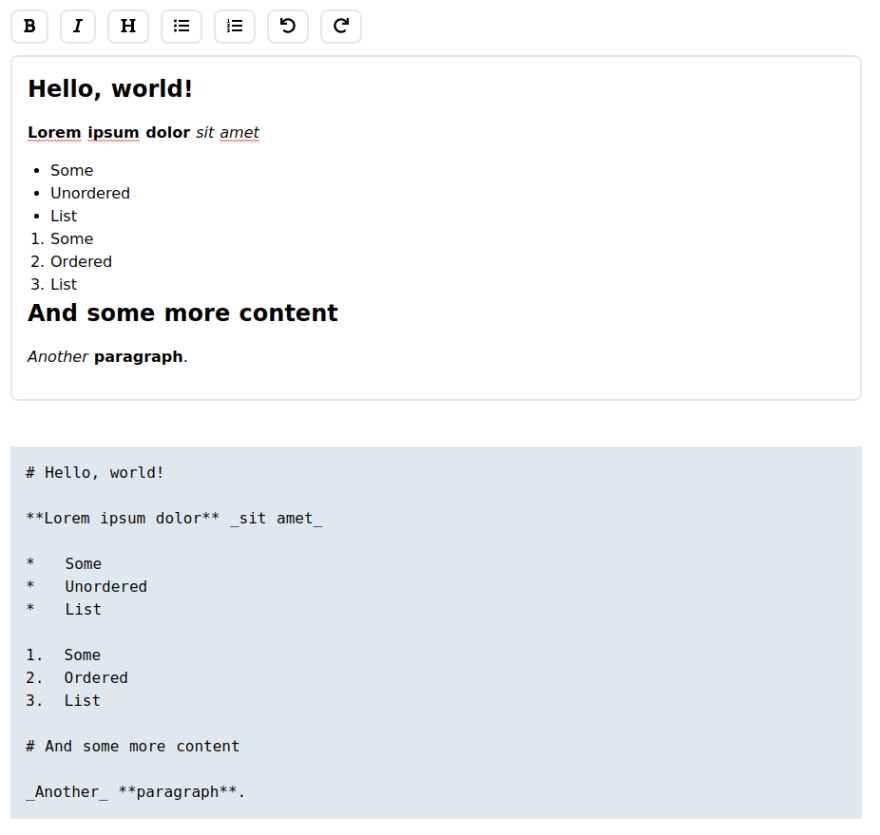 More content added and generated markdown outputted.