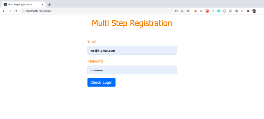 Login Without Steps
