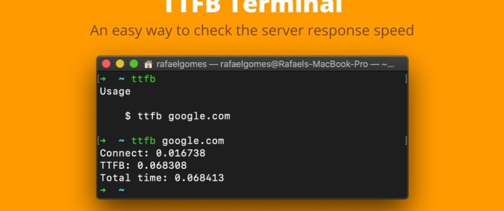 Cover image for Check quickly the TTFB via terminal
