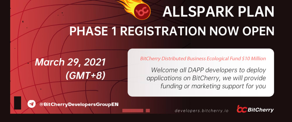 """Cover image for Sharing:BitCherry Official Launch the """"All Spark Plan"""" to set up a Special Ecological Support Fund of US $10 million"""