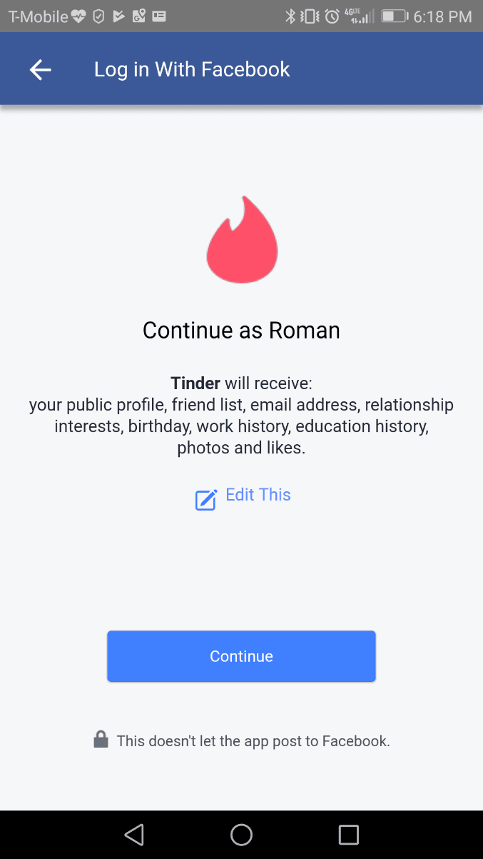 tinder oauth example