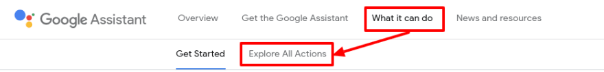Explore actions in Google Assistant