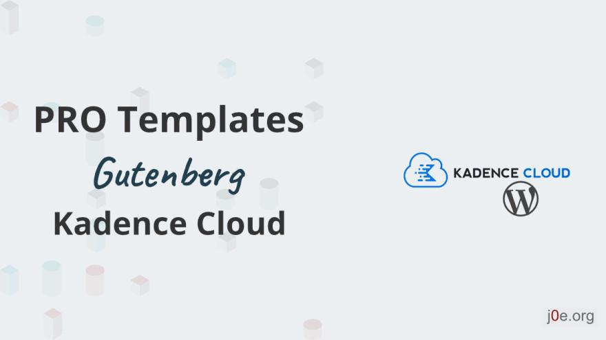Kadence Cloud - So erstellst du Pro Templates