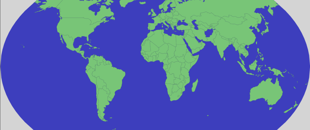 Cover image for How To: Draw a World Map with D3 in just 16 lines