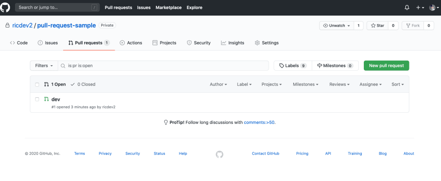 Done in Github