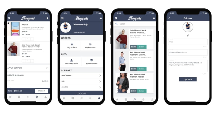 Shoppers – Flutter E-Commerce App using Firebase, Stripe, Razorpay and Flutter