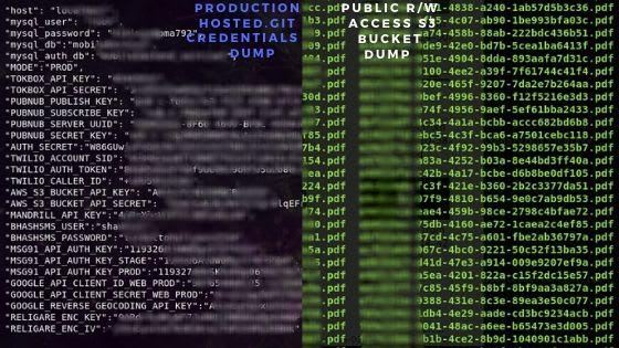 Infra credentials dump of healthcare chatbot(left)-Portfolio dump wealth management chatbot(right)