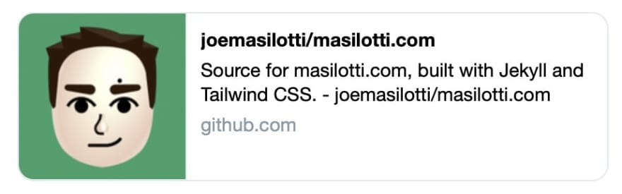 Boring Twitter preview of a GitHub repo