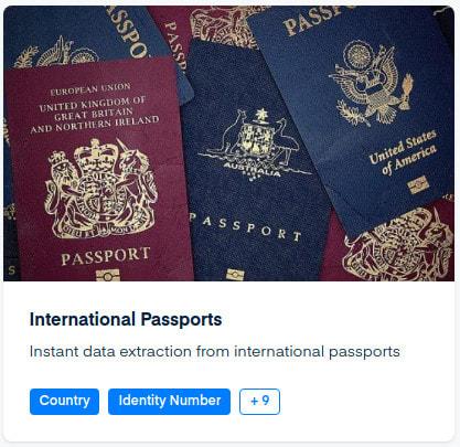 passport api mindee