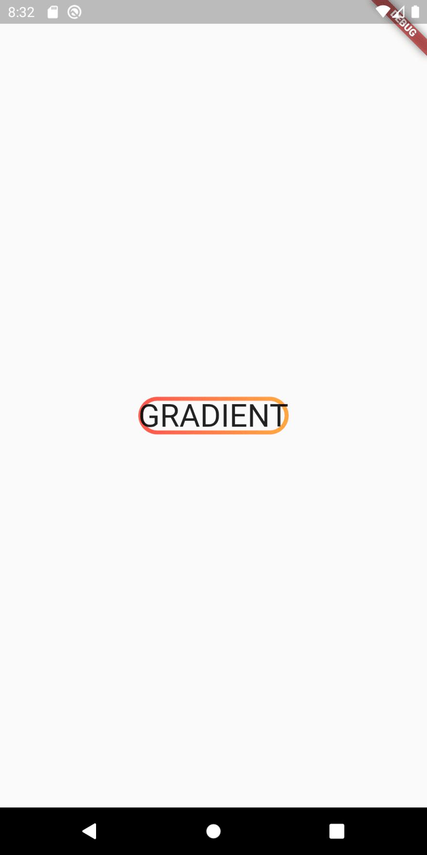 Round gradient border around text