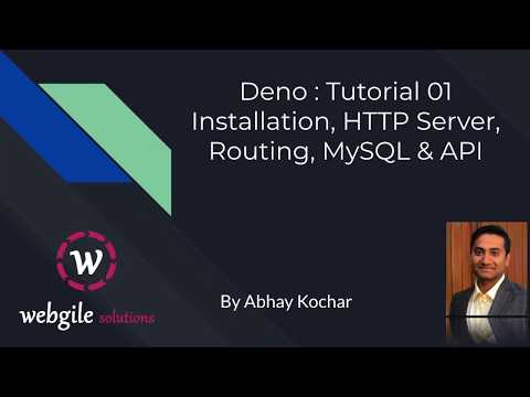 Deno js Tutorial: Installation, HTTP Server, Deno Routing, Deno MySQL & Deno Rest API with MySQL