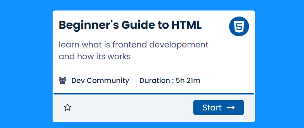 Cover image for Amazing Course Card Using HTML & CSS