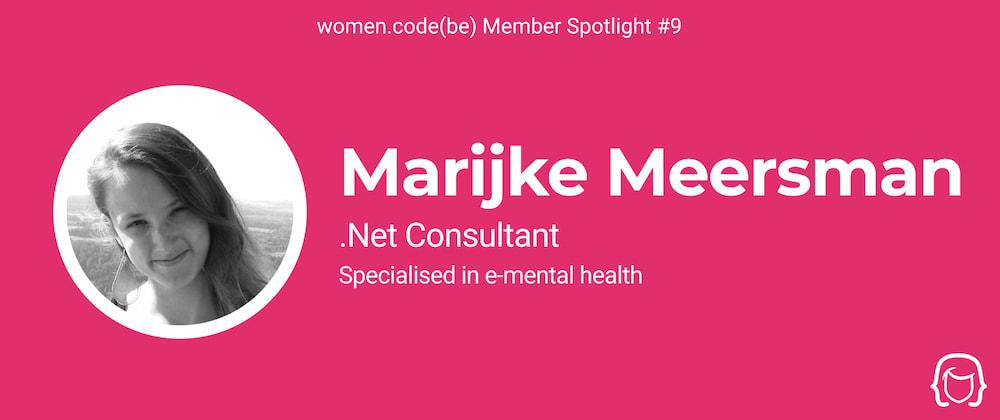 Cover image for Community Spotlight #9: Meet Marijke Meersman