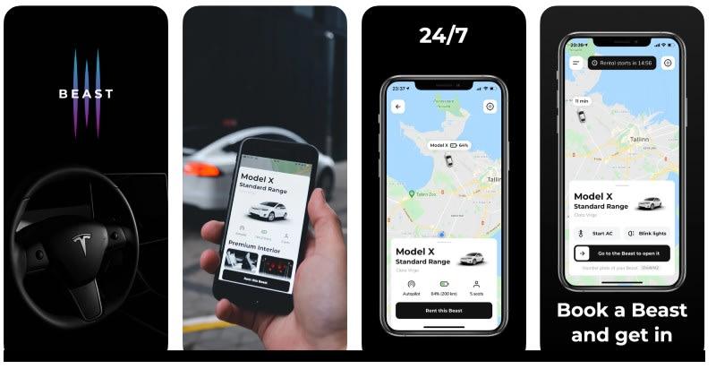 React Native apps: Best Rent app screenshots