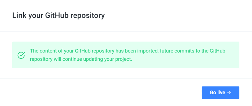 successful github integration