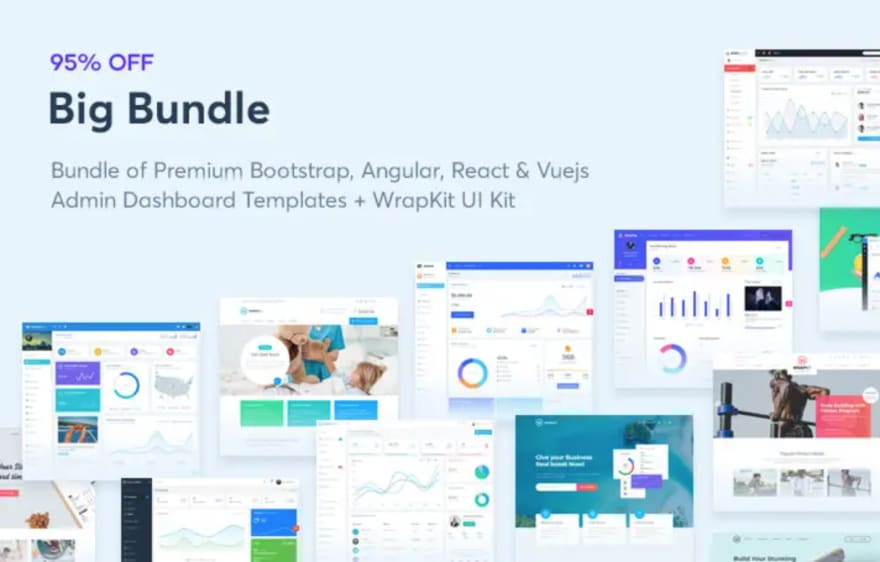 Wrappixel – UI Kits and Dashboards – up to 95% OFF