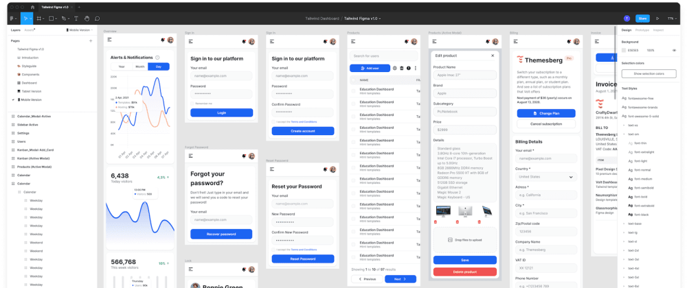 Cover image for Show dev: Figma design kit built for Tailwind CSS