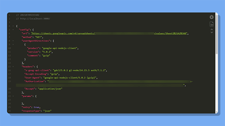 Make a GET request without restricting cell values