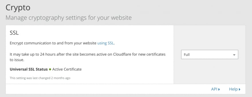 Cloudflare Crypto tab