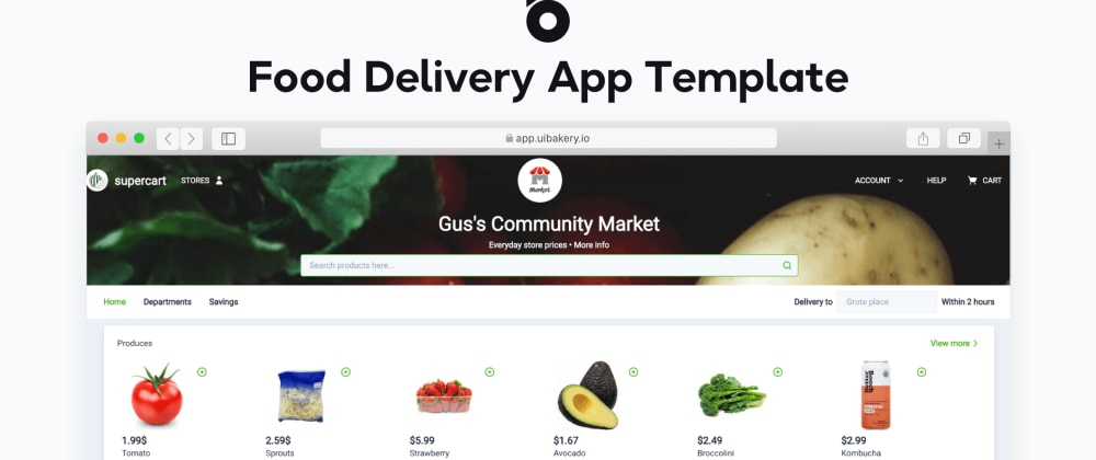 Cover image for Get a Free Food Delivery App Template 🍉 by UI Bakery