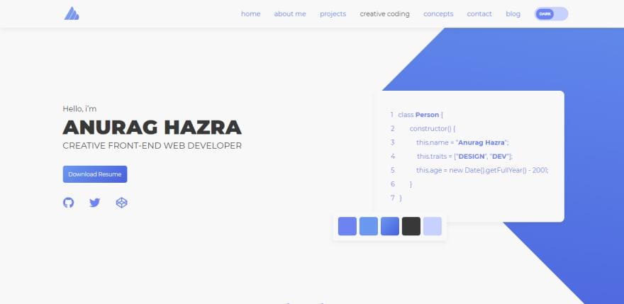 Anurag Hazra's portfolio