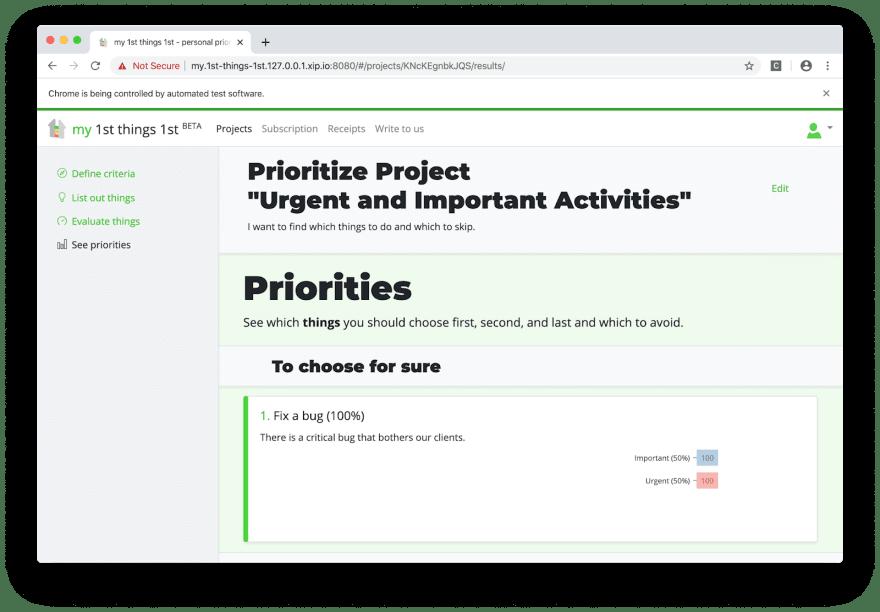 Exploring priorities