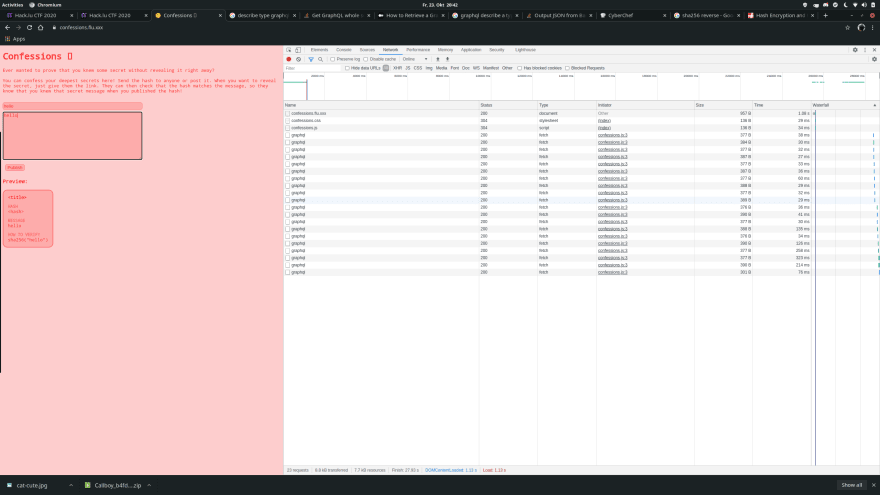Same webpage with the developer tools console open