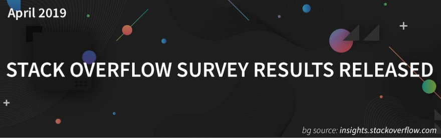 Stack Overflow 2019 Survey Results Photo