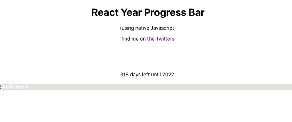 Cover image for Project 47 of 100 - Year Progress Bar with React