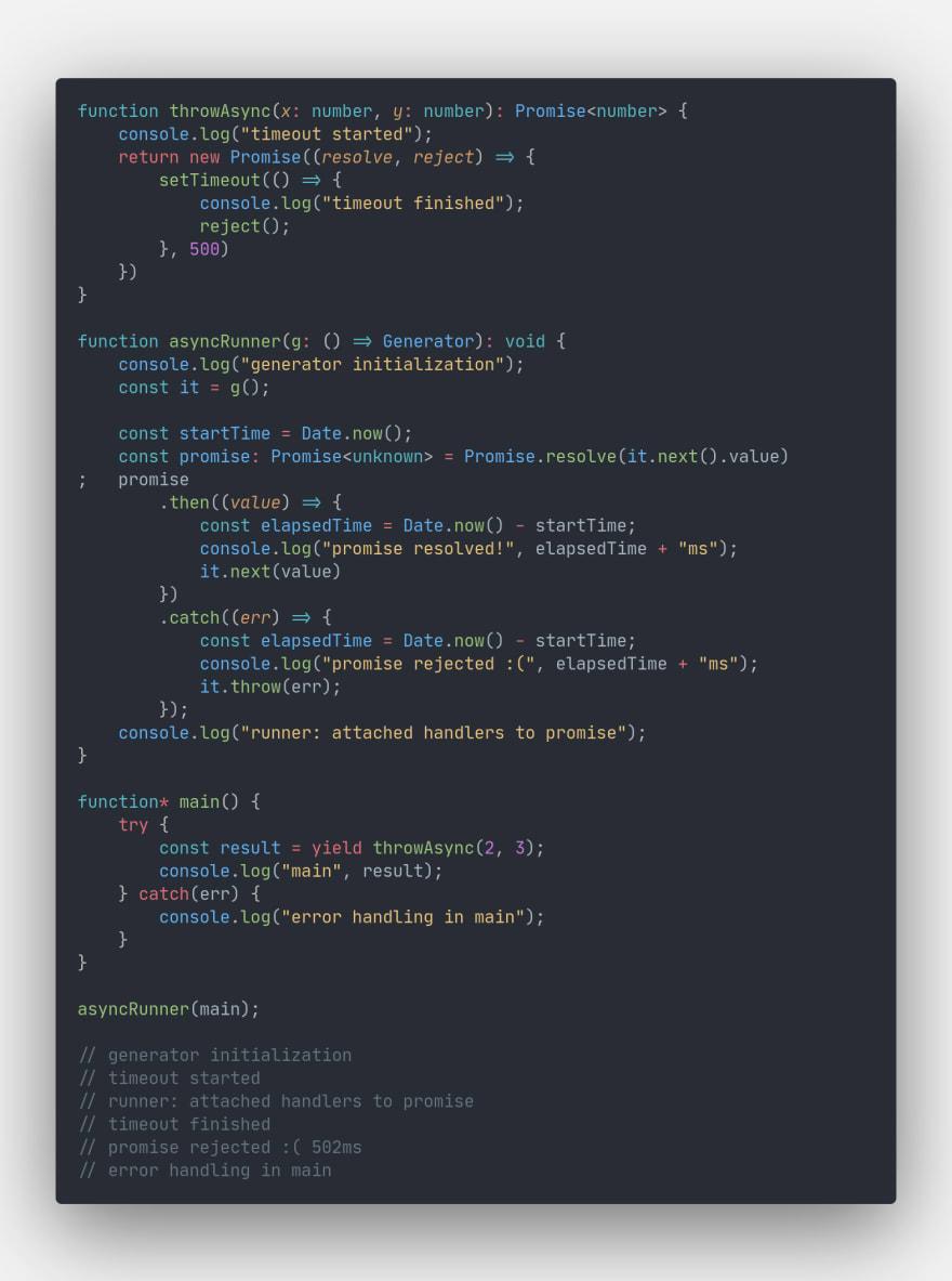 Error handling example