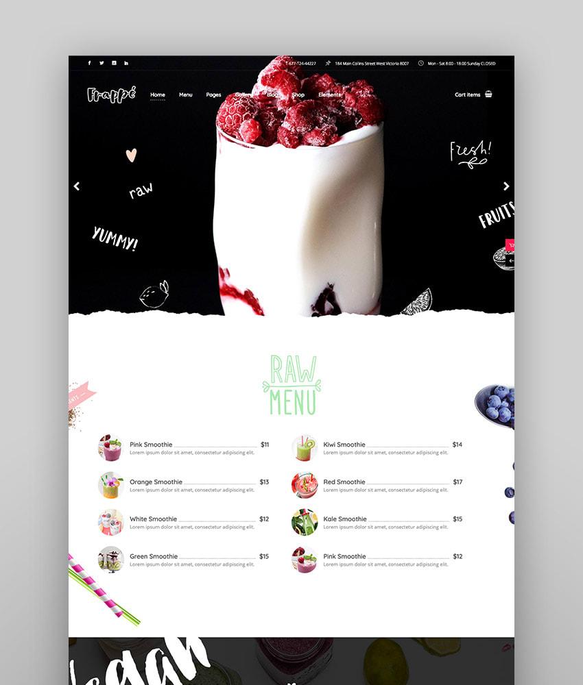 Frapp - Smoothie Juice Bar and Organic Food Theme