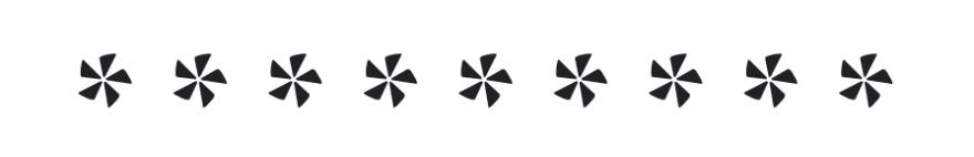 Asterisks designed like pinwheels