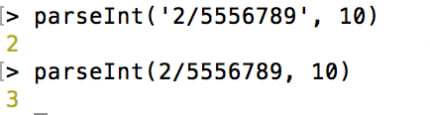 String vs Number example