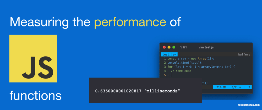 Cover image for Measuring the Performance of JavaScript Functions