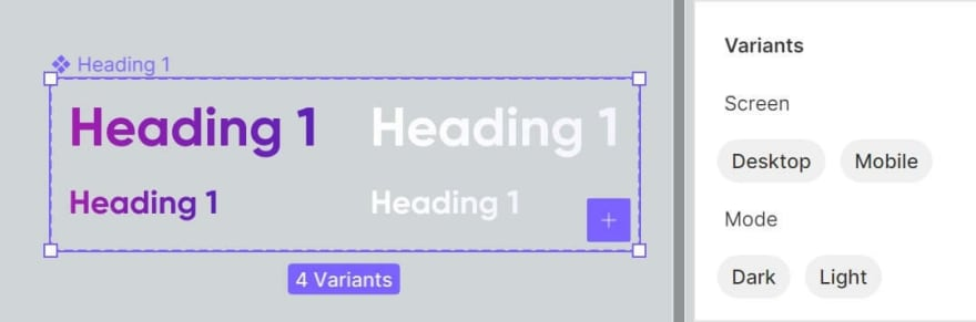 Heading component in Figma