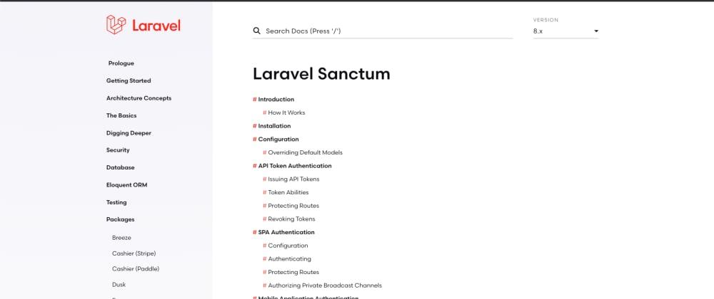 Cover image for Authentication with Laravel Sanctum