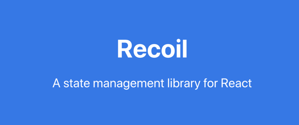 Cover image for Behold, Recoil state management