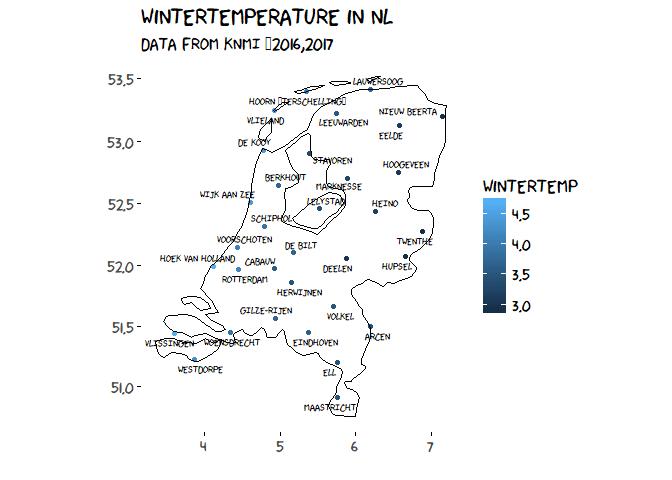 Netherlands, wintertemp, gps