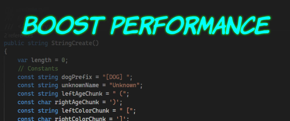 Cover image for Deep Dive on .NET Core String.Create() Performance