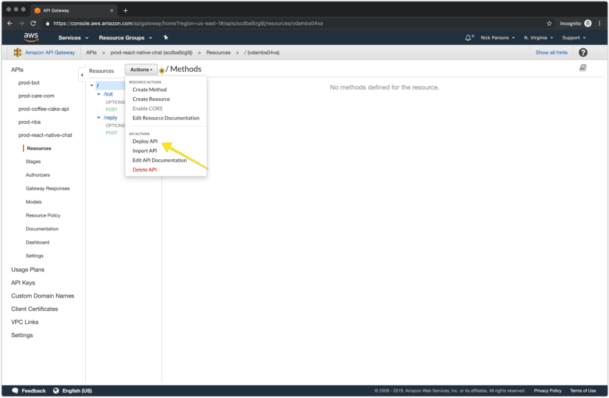 API Gateway – Deploy