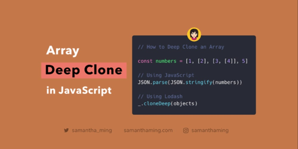 How to Deep Clone an Array in JavaScript - DEV Community 👩 💻👨 💻