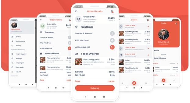 Delivery Boy + Flutter For Multivendor Stores best flutter app templates.