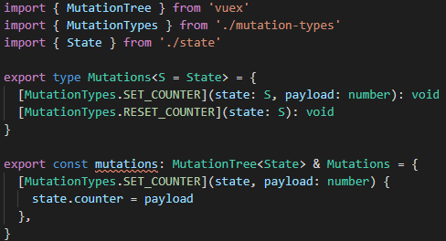 TypeScript complains about an unimplemented contract
