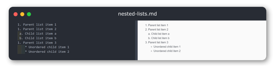 nested-lists-in-markdown