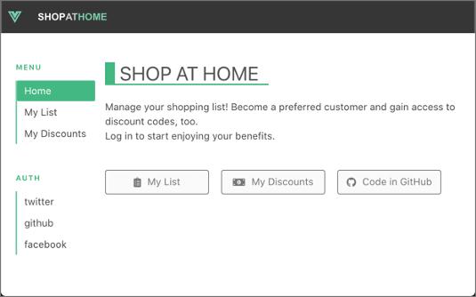 Shop at Home app