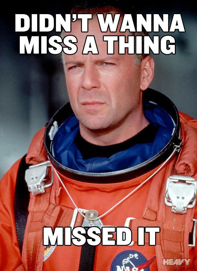 Bruce Willis Missed It