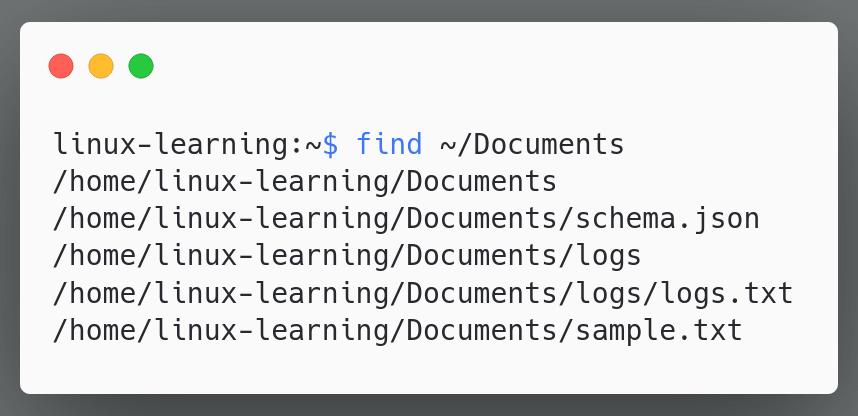 find folder content