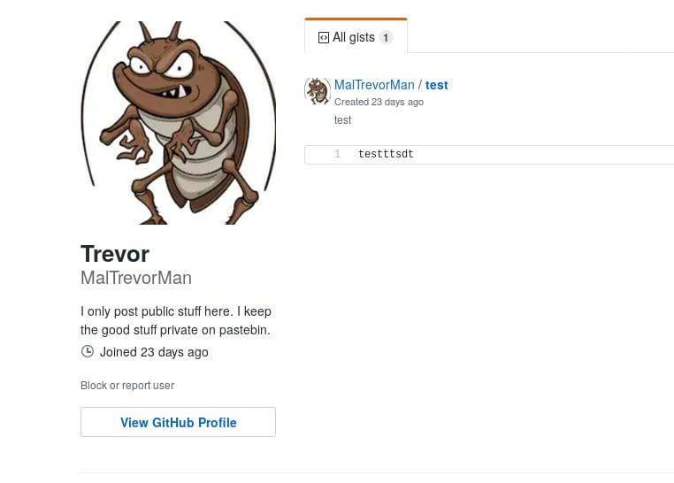 @MalTrevorMan Github profile