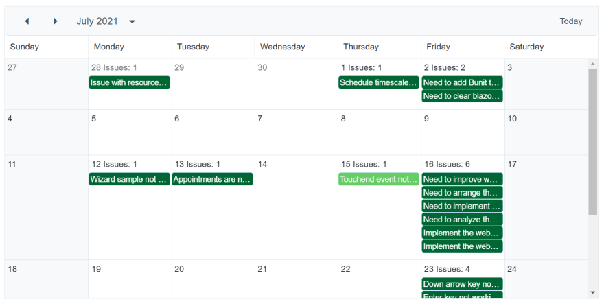 Applying Custom Colors to the Appointments